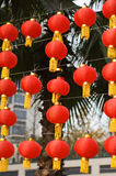 Red lantern. Every year's before new year, some people will hang up the red lantern, will wish in advance next year the good luck in everything Royalty Free Stock Photography