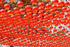 Red lantern. Hundreds of lantern royalty free stock photos