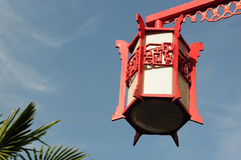 Red lantern against blue sky Stock Photography