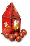 Lantern with painted eggs Stock Image