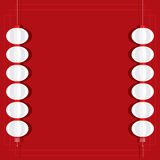 Red Lantern Background Template Royalty Free Stock Photo