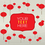 Red Lantern Background Template. Vector Illustration Stock Images