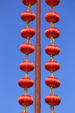 Red lantern with blue sky Stock Photography