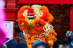 Red lantern in Chinatown London chinese new year. Chinatown London chinese new year parade red lantern Stock Photography