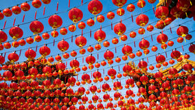 Red lantern during Chinese New Year. Red lantern and blue sky during Chinese New Year in Kuala Lumpur, Malaysia Royalty Free Stock Photography