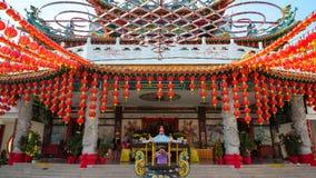 Red lantern during Chinese New Year. KUALA LUMPUR, MALAYSIA - 18TH FEBRUARY 2015: Lanterns hanging at Thean Hou Temple during Chinese New Year festive season in Stock Photos