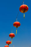 Red lantern in chinese temple Stock Photos
