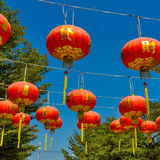 Red lantern in chinese temple Royalty Free Stock Photography