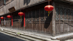 Red lantern on Chinese traditional architecture Stock Image