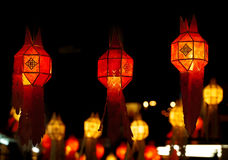 Red lantern decoration during Chinese New Year Stock Images