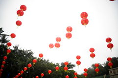 Red lantern decoration landscape Royalty Free Stock Image