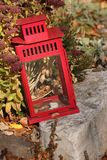 Red Lantern In Fall 2 Stock Photos