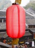 Red lantern at Fenghuang (Phoneix) Ancient town in Hunan, China Stock Image