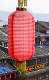 Red lantern in Fenghuang Town, China Royalty Free Stock Photography