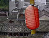 Red lantern at the Fenghuang Town, China Royalty Free Stock Photography