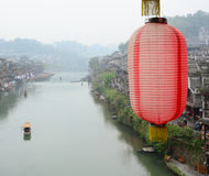 Red lantern at the Fenghuang Town, China Stock Images