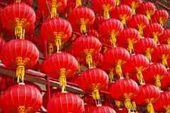 Red Lantern. Festival, a group of tall red lanterns hung Royalty Free Stock Image