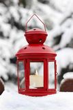 Red lantern in garden Royalty Free Stock Photography