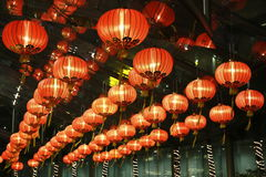 Red lantern in hotel Royalty Free Stock Photo