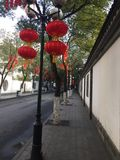 Red Lantern. S, Chinese traditional holiday items. Every major festival, the occasion of celebration, the majestic Tiananmen Square, many towns across the Stock Photography