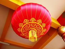 Red Lantern Lighting. On the Wind Royalty Free Stock Photos