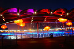 The red lantern night landscape Stock Photo