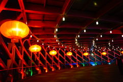 The red lantern night landscape Royalty Free Stock Photos