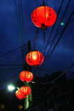 Red Lantern in nightfall Stock Photography