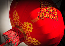 Red lantern in a street Royalty Free Stock Image