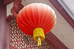 Red lampion is a symbol for happiness,wealth and succes, China Stock Image