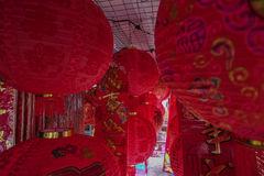Red Lantern in town. Lantern for Chinese New Year in Malaysia Stock Images