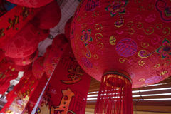 Red Lantern in town. Lantern for Chinese New Year in Malaysia Royalty Free Stock Photography