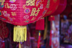 Red Lantern in town. Lantern for Chinese New Year in Malaysia Royalty Free Stock Photo