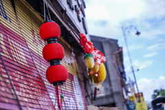 Red Lantern in town Royalty Free Stock Image