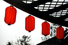 Red lantern under sun Stock Image