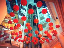 Red lantern welcoming Chinese New Year Royalty Free Stock Image