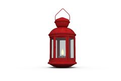 Red lantern on white background Stock Photography