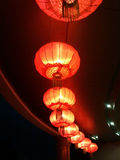 Red Lanterns. Beautiful red lanterns at night Stock Photos