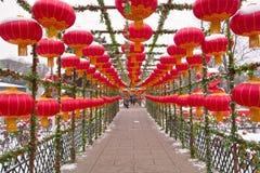 Red lanterns Stock Image