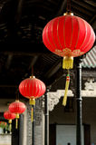 Red lanterns. The red lantern of the corridor Royalty Free Stock Image