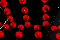Red Lanterns background Royalty Free Stock Photography
