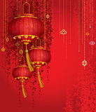 Red Lanterns background Royalty Free Stock Photos