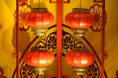 Red Lanterns for Chinese New Year.  Royalty Free Stock Photo