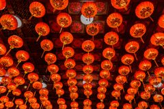 Red lanterns during for Chinese new year festival royalty free stock image