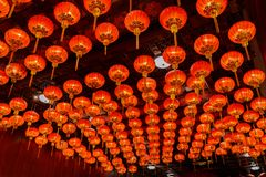 Red lanterns during for Chinese new year festival stock photo