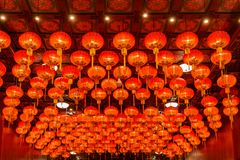 Red lanterns during for Chinese new year festival stock image