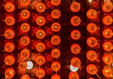 Red lanterns during for Chinese new year festival stock photography