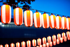 Red lanterns during Chinese new year festival, Selective Focus. Royalty Free Stock Photos