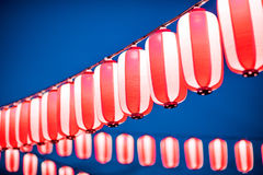 Red lanterns during Chinese new year festival, Selective Focus. Stock Image