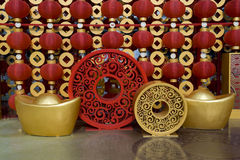 Red lanterns decorating the Chinese New Year Royalty Free Stock Images